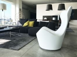 B&B ITALIA - Grande Papilio Armchair in white colour (Expo Offer)